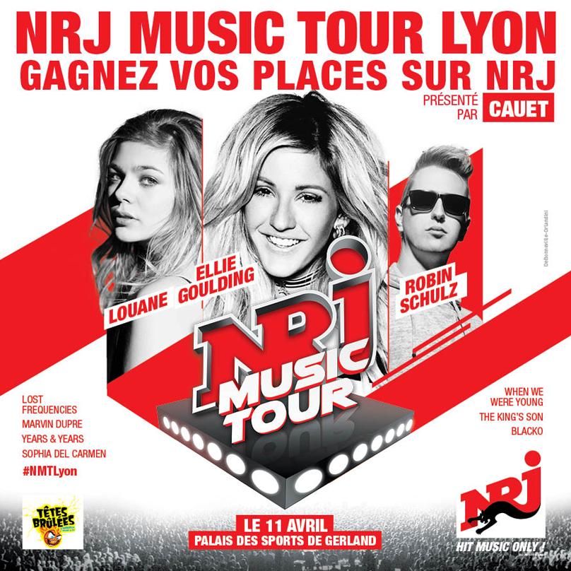 6 places à gagner pour le concert NRJ MUSIC TOUR à Lyon