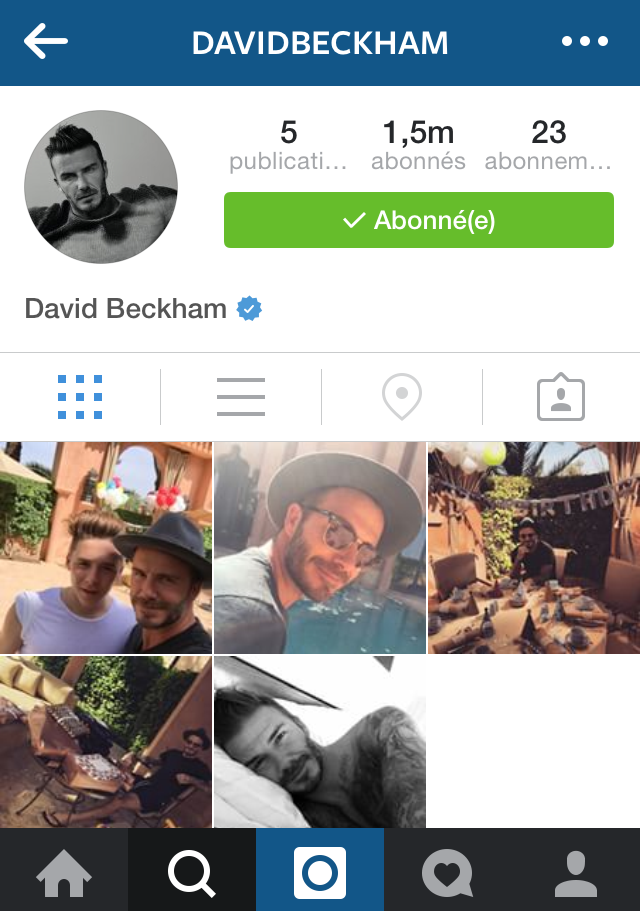 david beckham on instagram