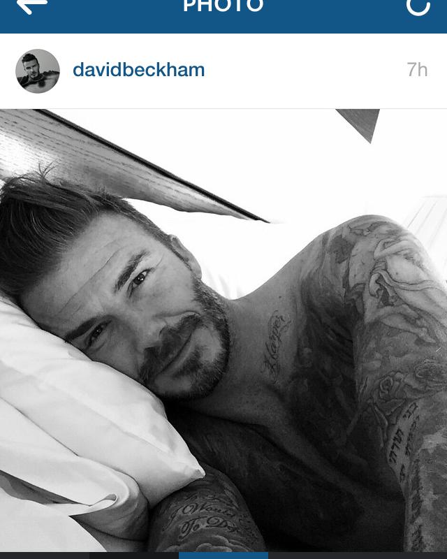 David Beckham fête ses 40 ans et s'inscrit sur Instagram
