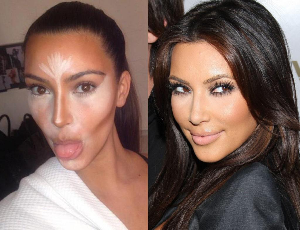 Kim Kardashian s'affiche en pleine séance contouring sur son compte Instagram !